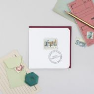 Katie Wagstaff Vintage Stitched Stamp Christmas Card